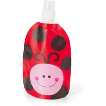 Bidon plegable 300 ml divertidos decorados personalizado rojo