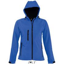 Chaqueta de soft shell con capucha de mujer replay women sols personalizada azul royal