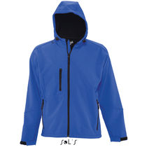 Chaqueta de soft shell con capucha replay men sols personalizada azul royal