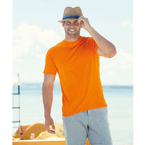 Camiseta value weight fruit of the loom 165 con logo naranja