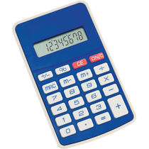 Calculadora 8 digitos personalizada azul