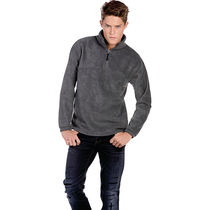 Forro polar media cremallera fleece top b c 300 personalizado carbon