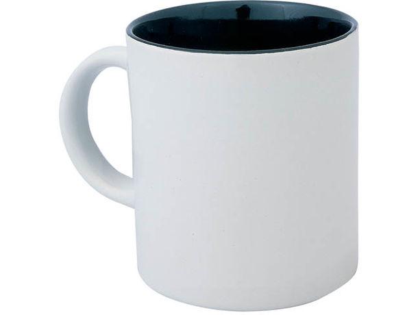 Taza de ceramica con el interior a color personalizada