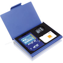 Tarjetero de tarjetas sim sd minisd personalizado azul