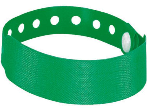 Pulsera de control o pulsera de hotel barata verde