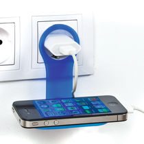 Sujeta movil plegable ideal para cargar personalizada azul