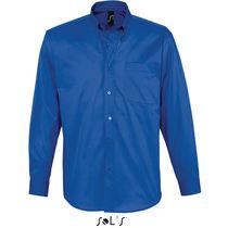 Camisa suave de hombre bel air sols 165 para empresas azul royal