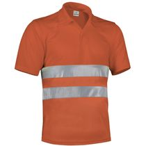 Polo reflectante transpirable build 170 para empresas naranja fluor