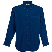 Camisa de hombre oxford la fruit of the loom 135 personalizada azul marino
