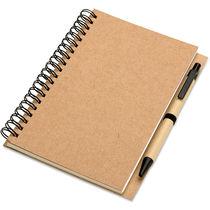 Libreta de papel reciclado personalizada beige