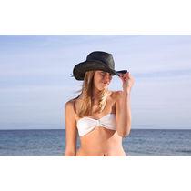 Sombrero de paja sintetico en 3 colores personalizado