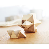 Rompecabezas estrella personalizado marron madera
