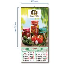 Calendario 2017 de pared con faldilla bimensual personalizado