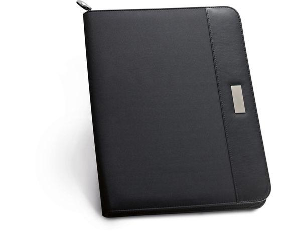 Portafolios microfibra y polipiel con cremallera personalizado