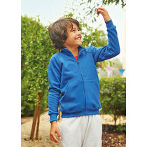 Chaqueta manga raglan de nino fruit of the loom 280 personalizada azul royal