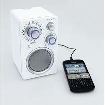 Radio y altavoz para movil o mp3 personalizado blanco