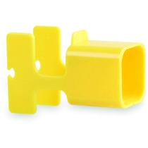 Soporte y cargador personalizado amarillo