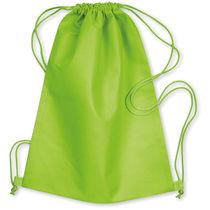 Mochila saco de nonwoven merchandising verde lima