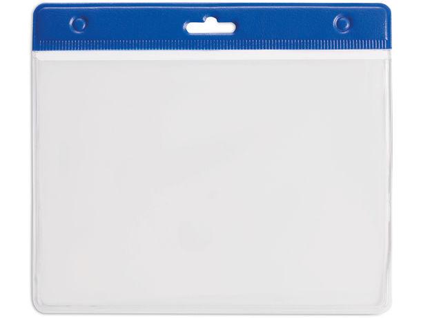 Portaacreditacion 11 x 9 5 cm colores personalizado azul