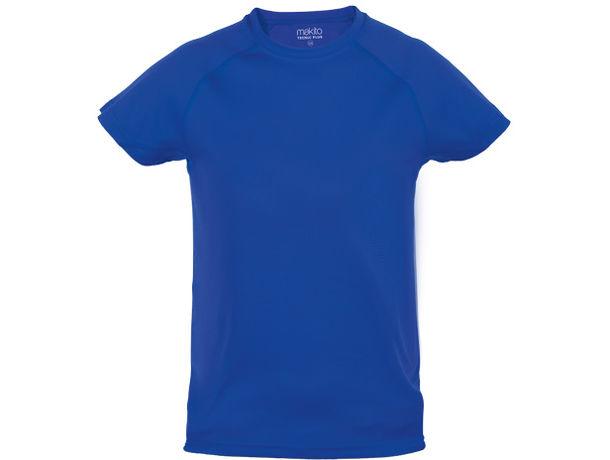Camiseta tecnica bicolor de nino tecnic plus 135 personalizada azul