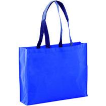 230799e36 Bolsa de la compra en non woven grueso personalizada azul