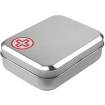 Kit de primeros auxilios en caja de estano personalizado rojo