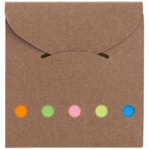 Bloc de notas adhesivas de carton personalizado natural