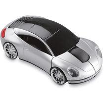 Raton inalambrico forma coche personalizado plata mate