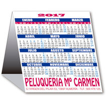 Calendario 2017 de mesa triangular cuadrado cartoncillo plastificado personalizado
