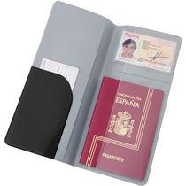 Funda para billetes de viaje en pvc personalizada negro