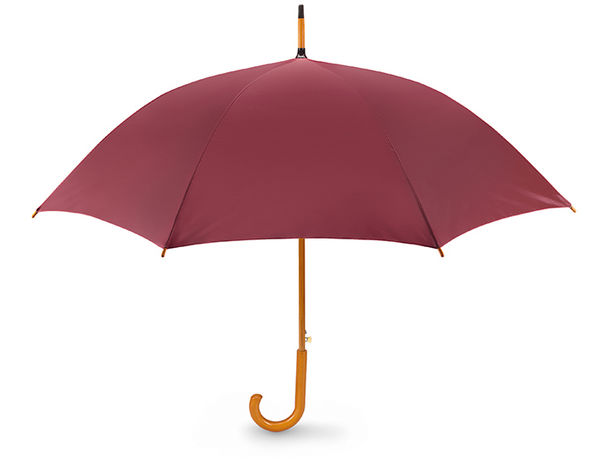 Paraguas automatico con mango de madera personalizado