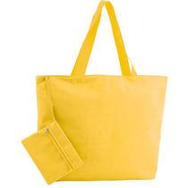 Bolsa de playa con neceser personalizada amarillo