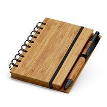 Bloc de notas eco con boli en bambu personalizado