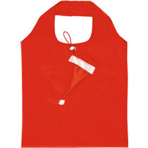 Bolsa plegable en forma de gorro de navidad personalizada rojo
