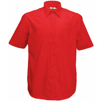 Camisa de hombre popelin fruit of the loom 120 barata rojo