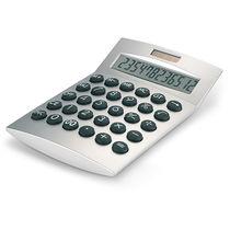 Calculadora solar basics de 12 digitos personalizada plata mate