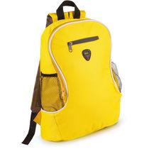 Mochila con bolsillos y salida auriculares personalizada amarillo