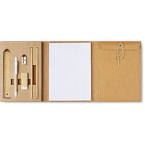 Set de escritorio con 8 piezas barato beige