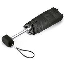Mini paraguas en estuche microfibra grabado negro